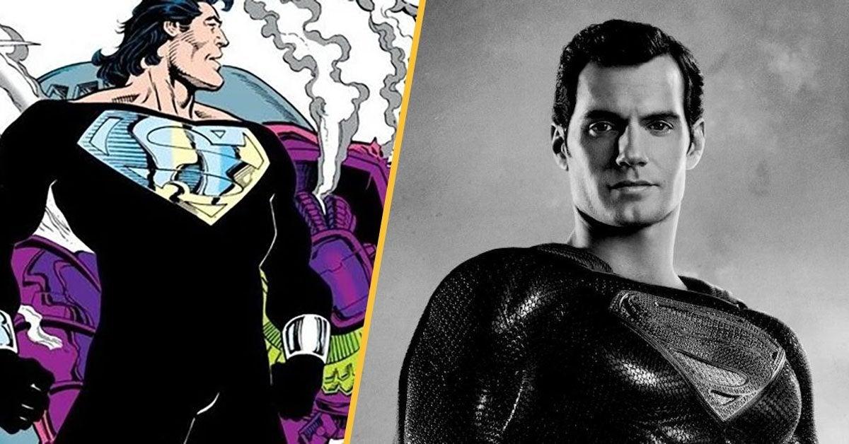 black suit superman beard mullet zack snyder