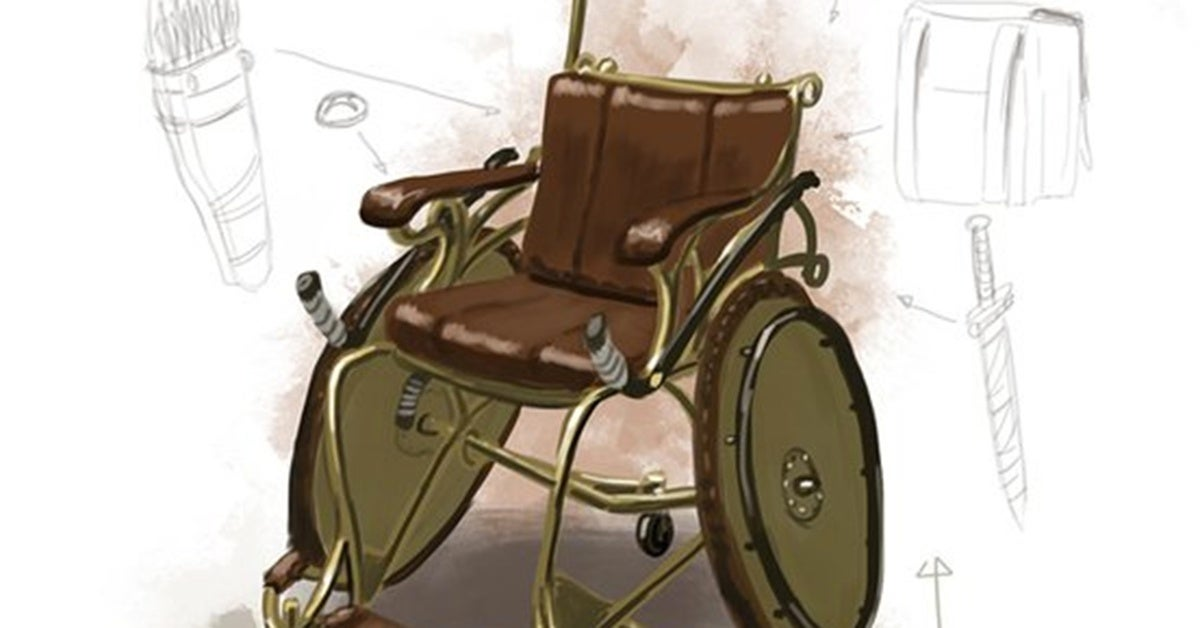combat wheelchair hed