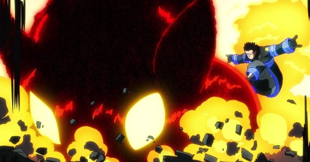 Fire Force Shinra Corna Anime Scene Watch Sign of the Devil