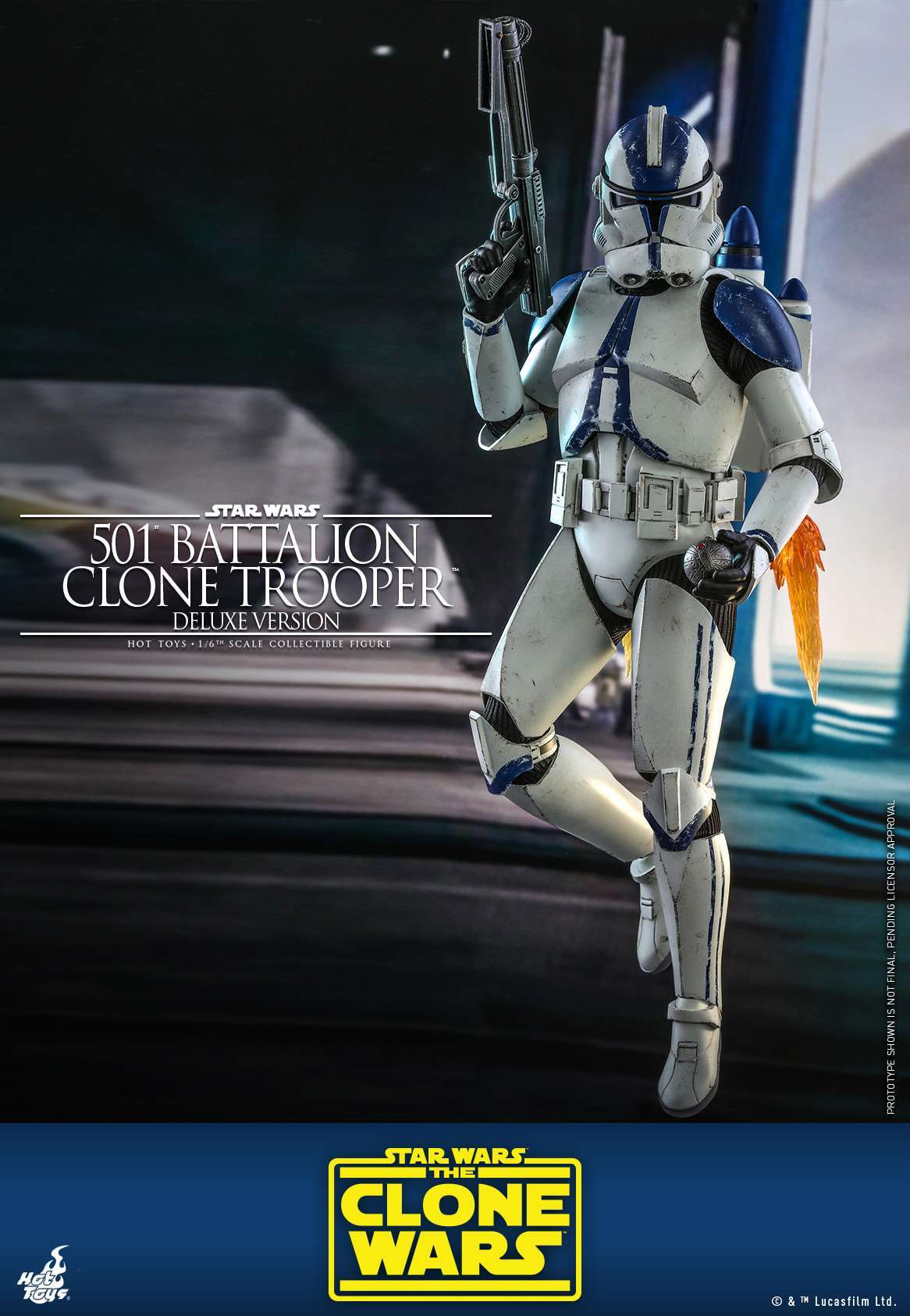 Hot Toys - SWCW - 501 Battalion Clone Trooper collectible figure (Deluxe)_PR1