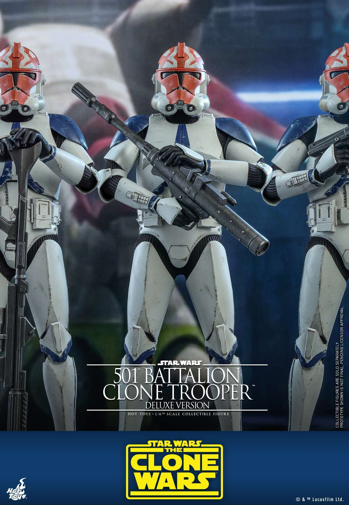 Hot Toys - SWCW - 501 Battalion Clone Trooper collectible figure (Deluxe)_PR8
