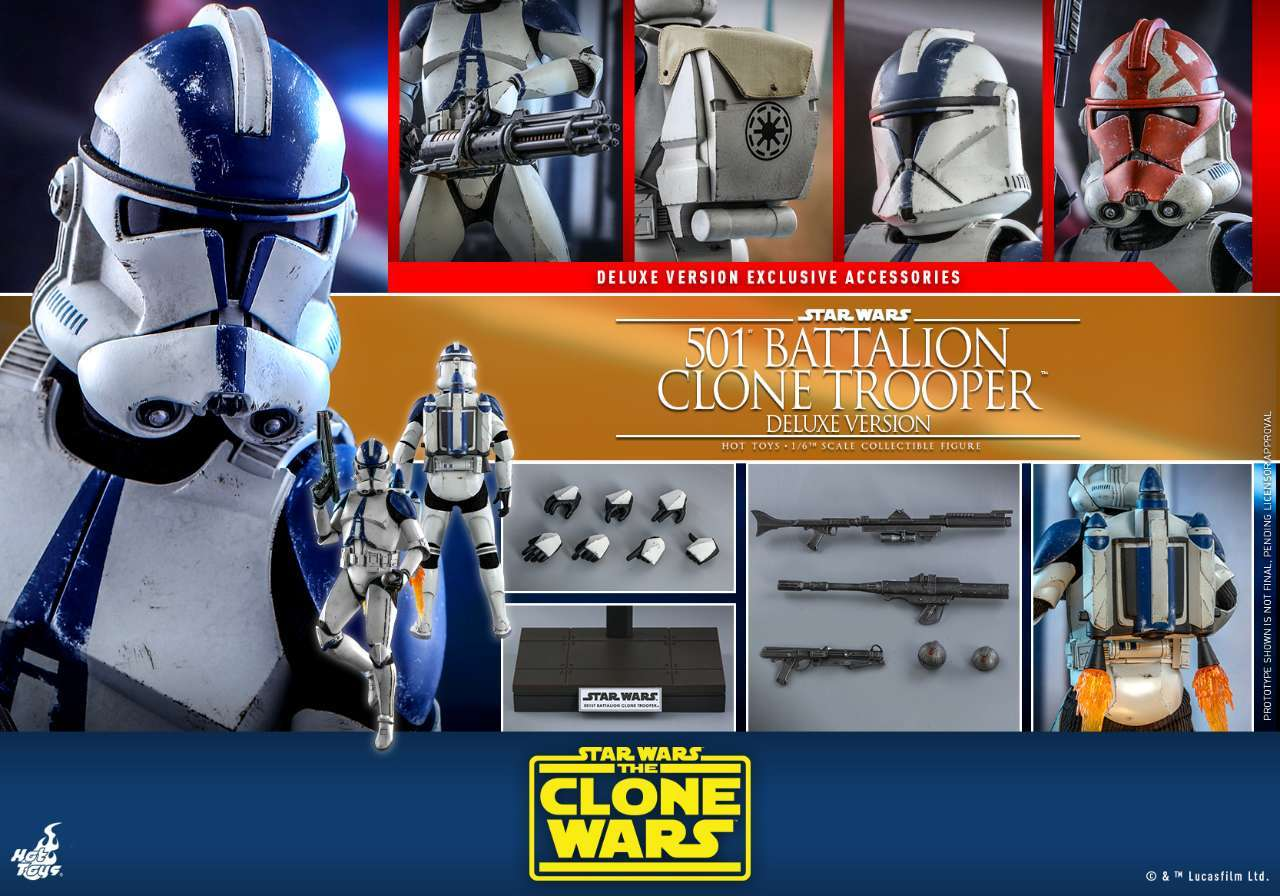 Hot Toys - SWCW - 501 Battalion Clone Trooper collectible figure (Deluxe)_PR18