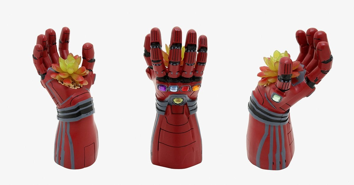 The Avengers Iron Gauntlet Planter Has the Power to Keep a Succulent Alive Forever