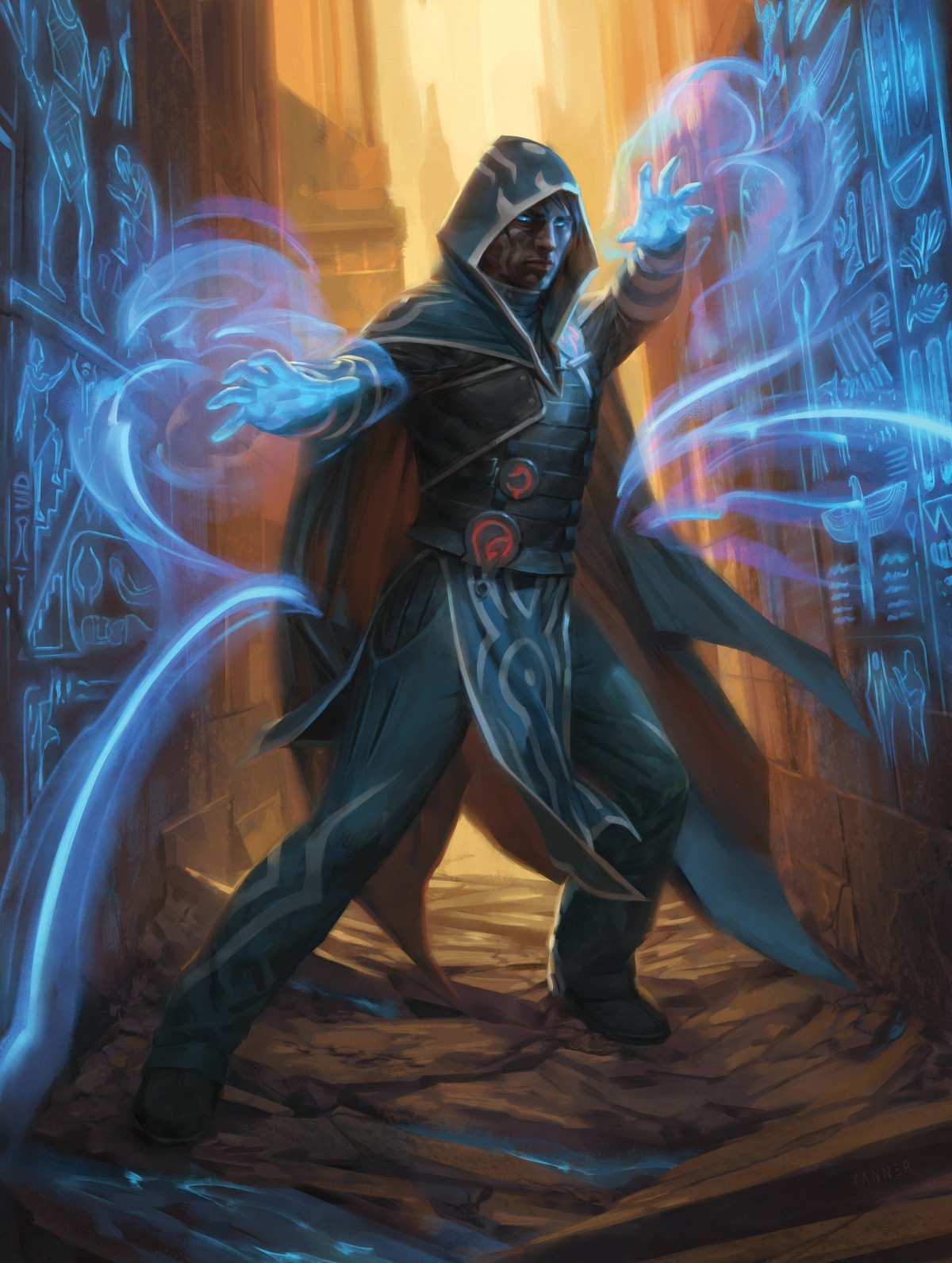 Jace, Unraveler of Secrets by Kieran Yanner Amonkhet Remastered Magic the Gathering MTG Arena