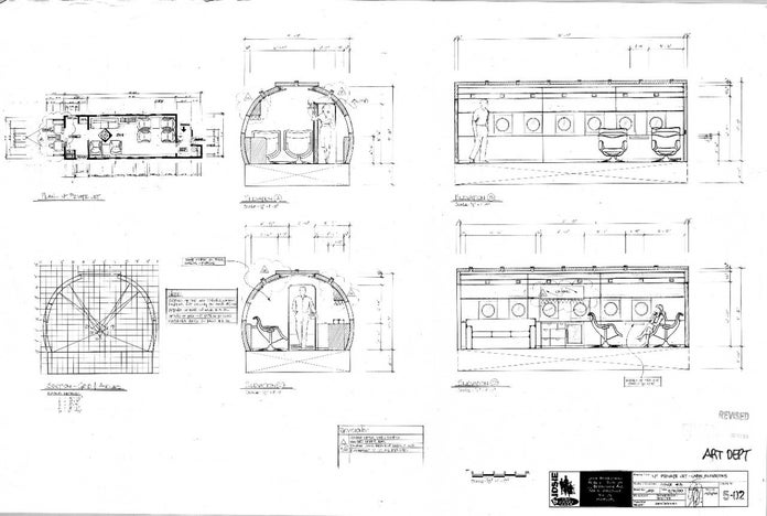 Josie and the Pussycats Blueprints - Int Private Jet Cabin Elevations