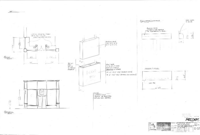 Josie and the Pussycats Blueprints - Riverdale Strip Sign Elevations