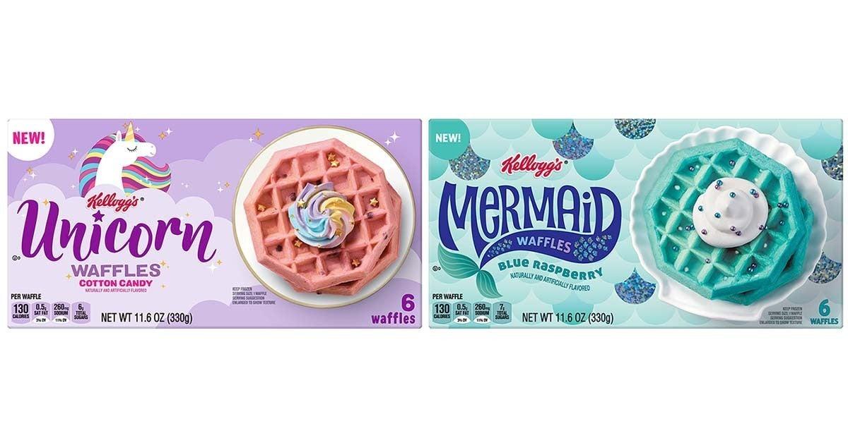 kelloggs unicorn mermaid waffles