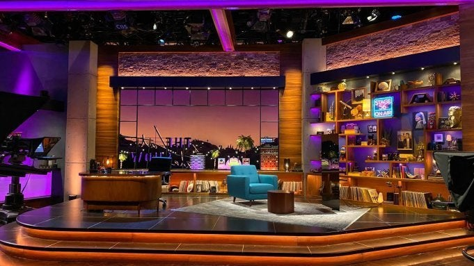 late late show james corden set