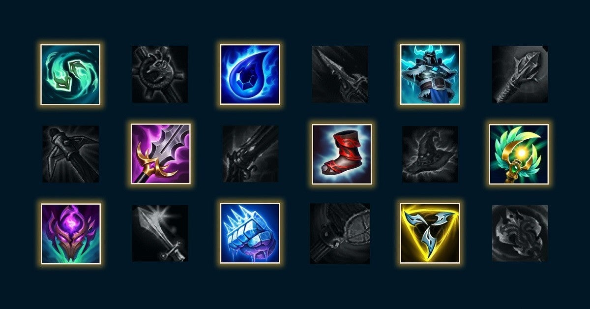 League of legends Items