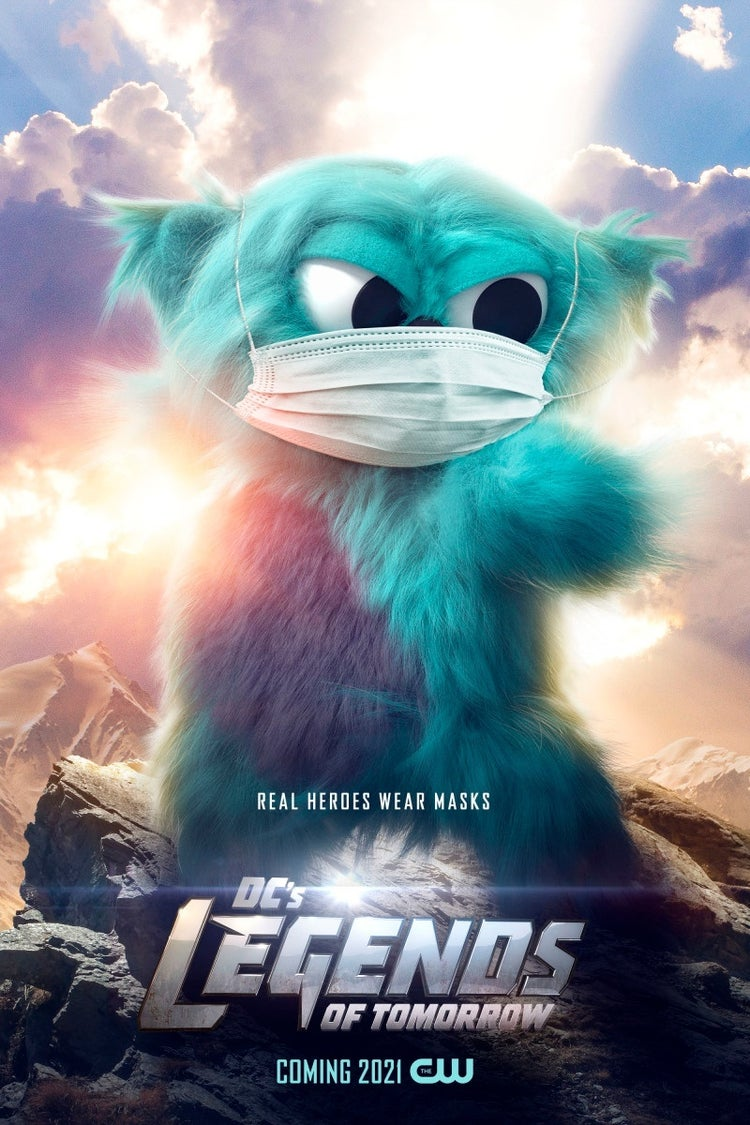 legends of tomorrow beebo face mask poster