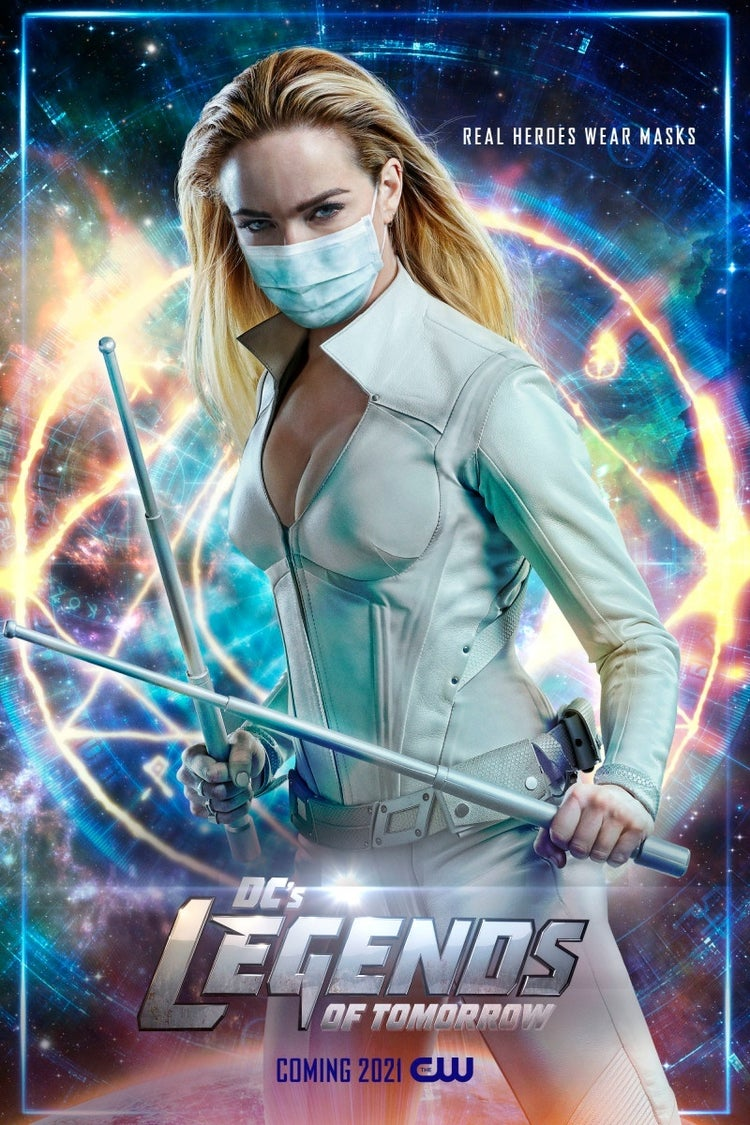 legends of tomorrow face mask poster