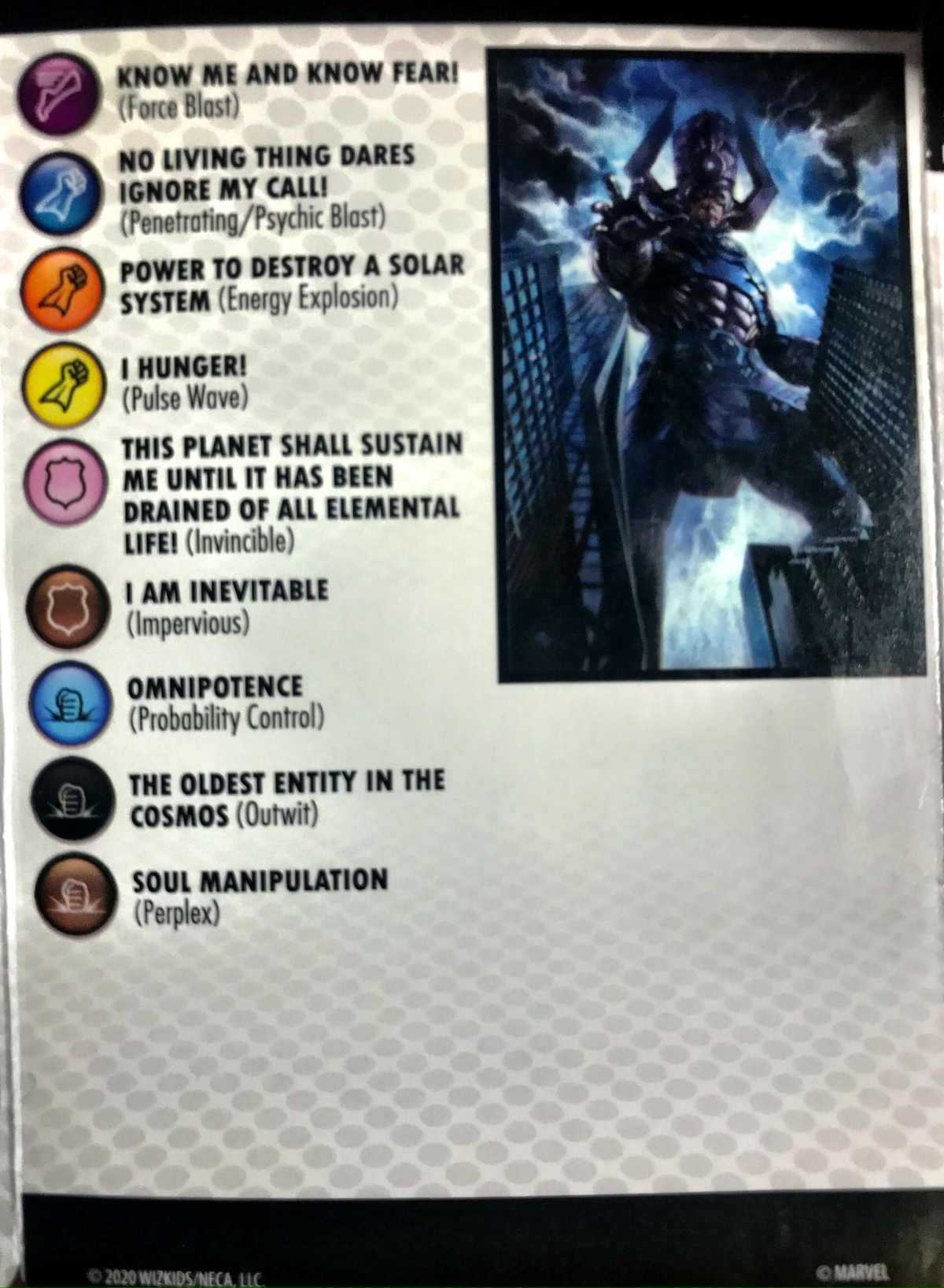 Marvel Heroclix Galactus - Devourer of Worlds Premium Colossal Figure 011