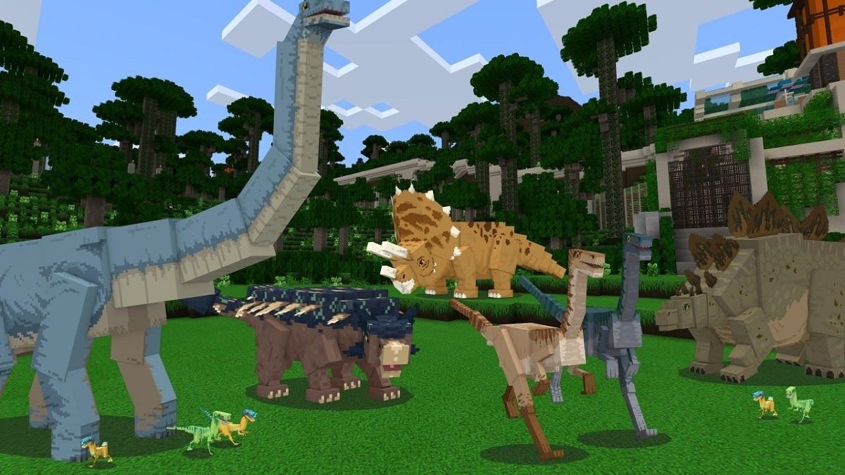 Minecraft Jurassic World DLC