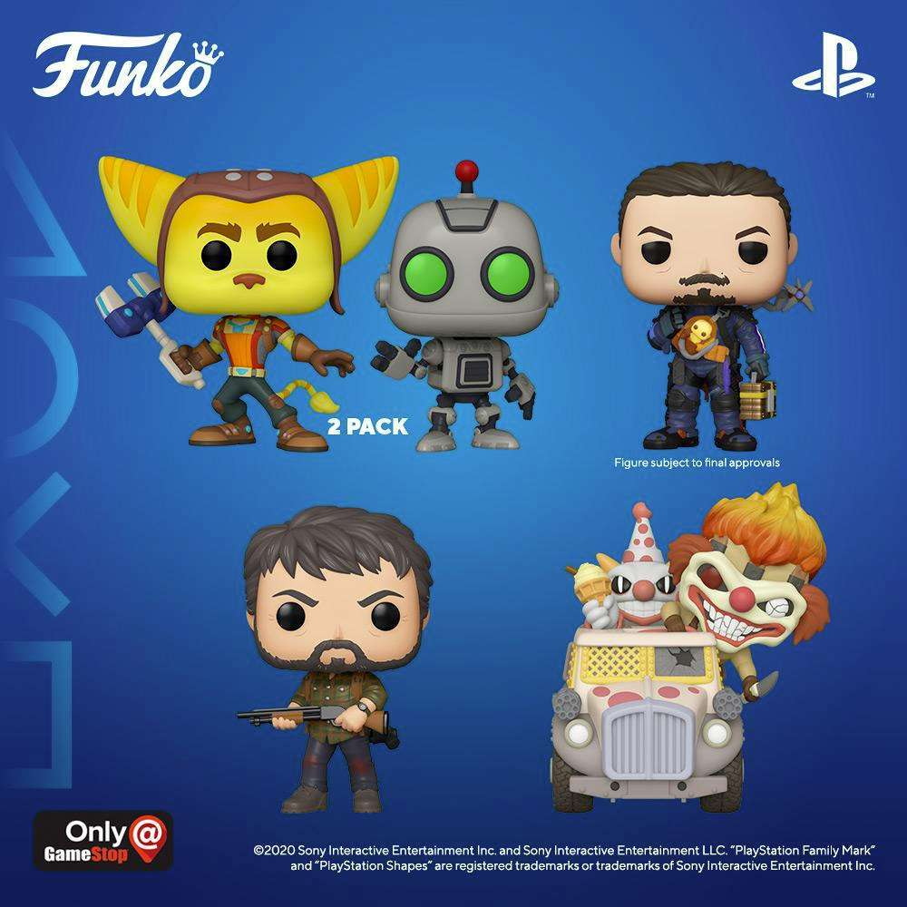 THE LAST OF US FUNKO Pops F.P.d DISPLAY STAND contiene 4 Pops.