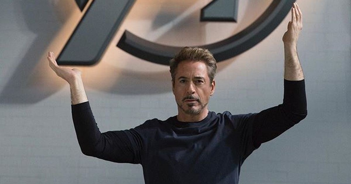 RDJ avengers endgame bts photo