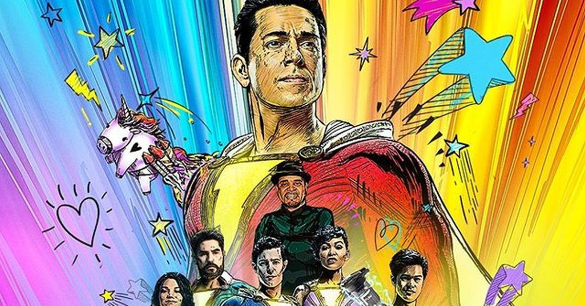 shazam fury of the gods zachary levi poster