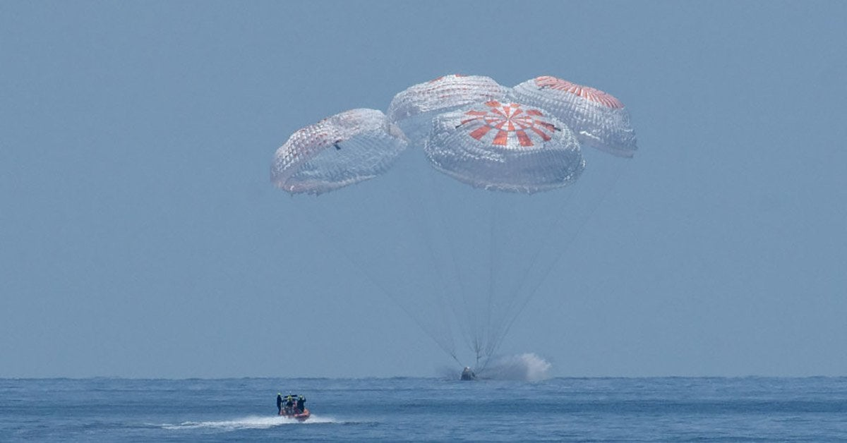 spacex crew dragon return