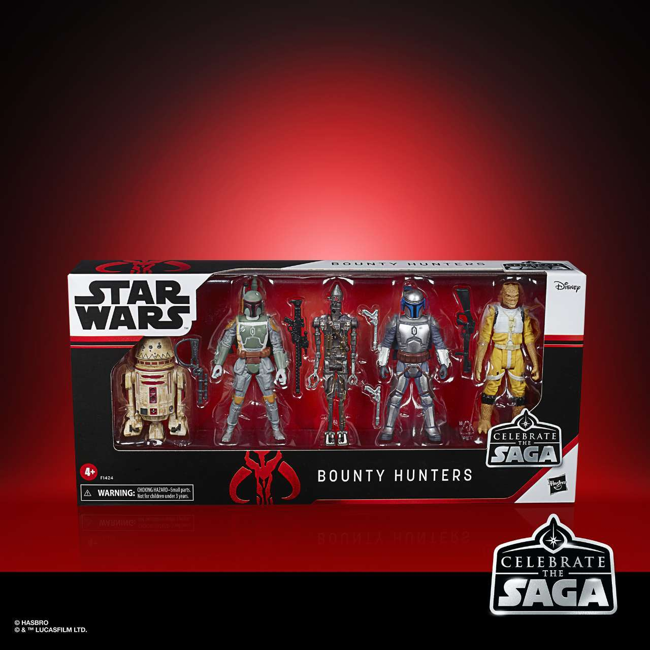 STAR WARS CELEBRATE THE SAGA 375-INCH BOUNTY HUNTERS Figure 5-Pack - in pck