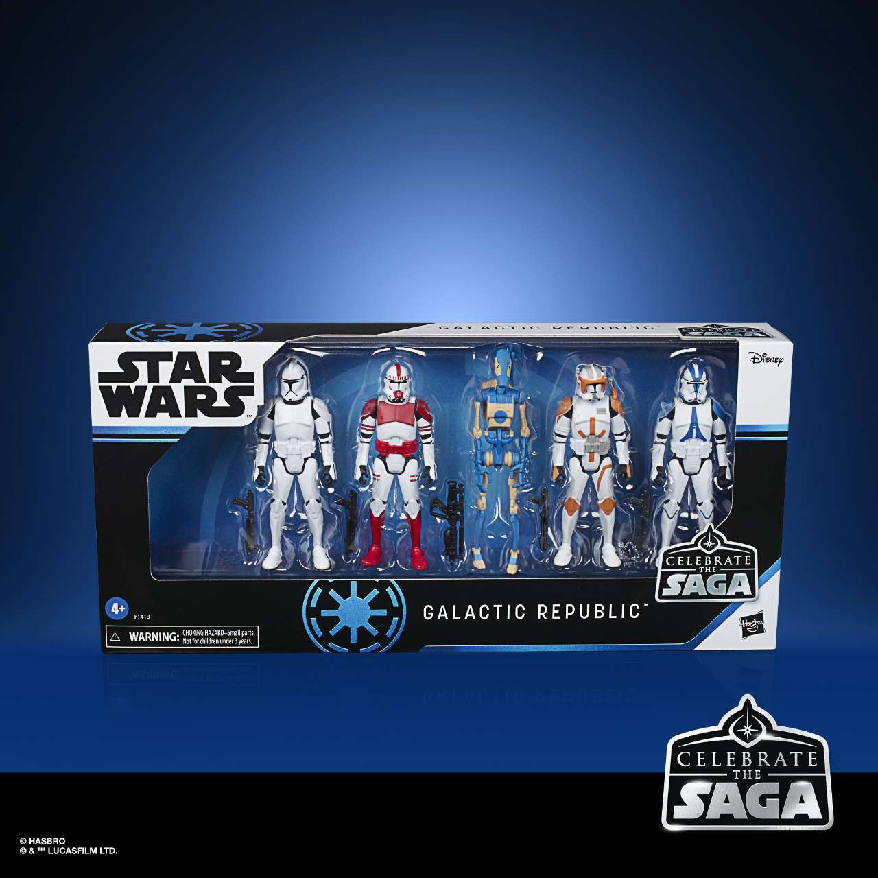 STAR WARS CELEBRATE THE SAGA 3.75-INCH GALACTIC REPUBLIC Figure 5-Pack - in pck