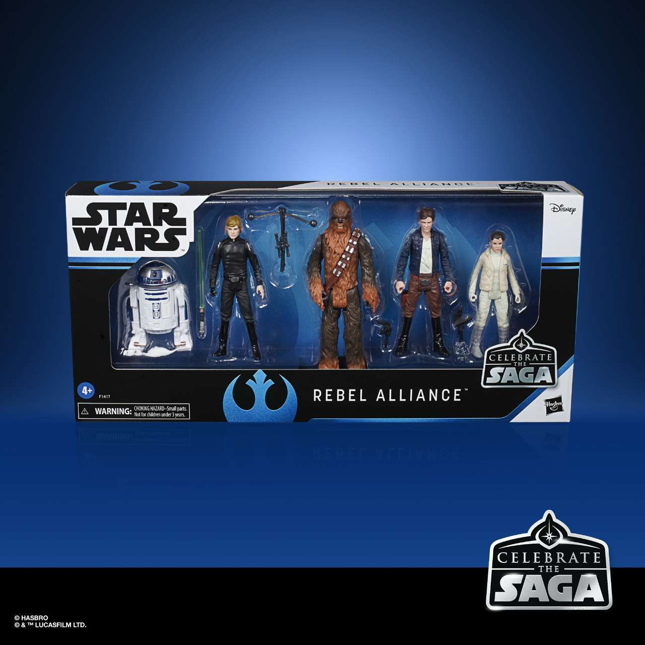 STAR WARS CELEBRATE THE SAGA 375-INCH REBEL ALLIANCE Figure 5-Pack - in pck