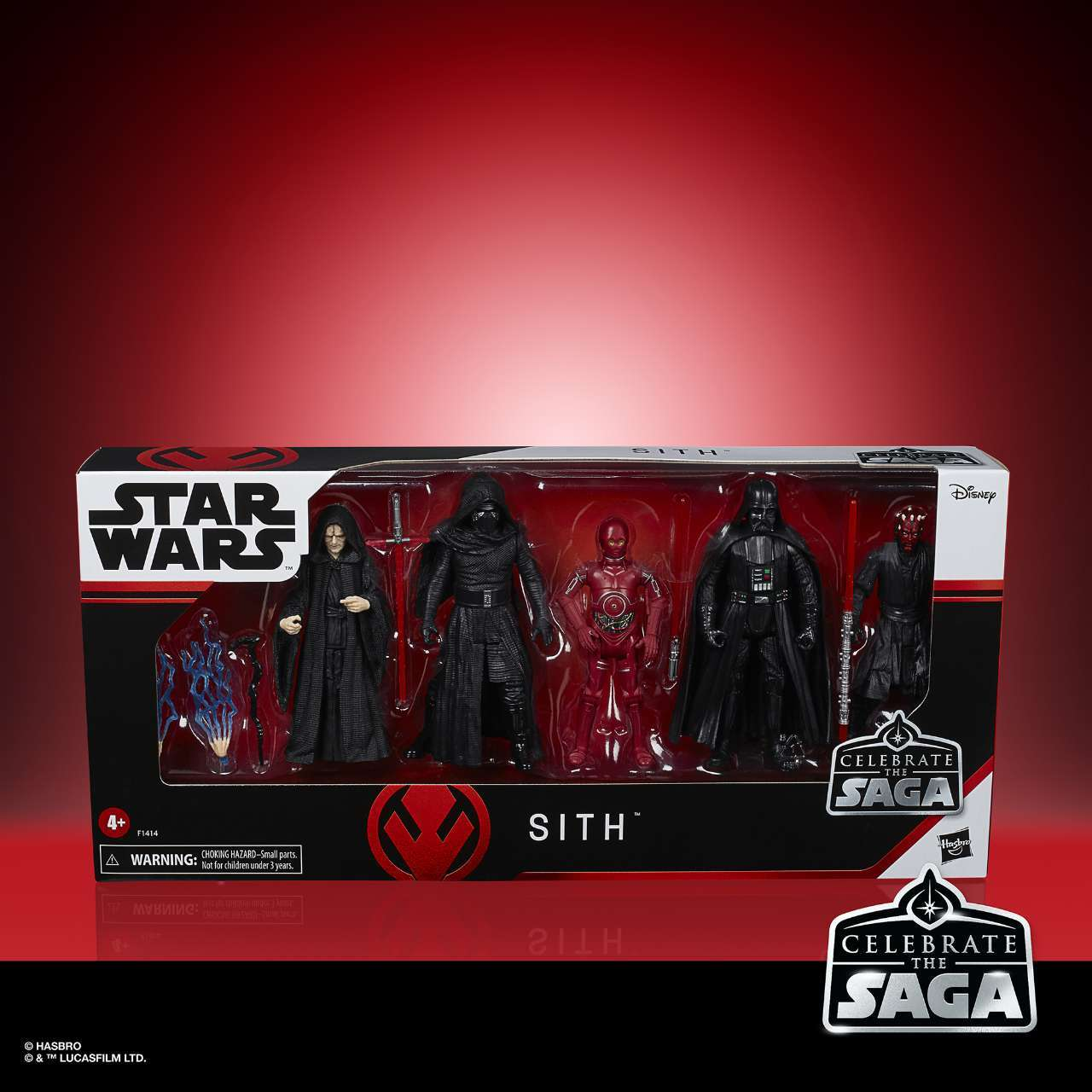 STAR WARS CELEBRATE THE SAGA 375-INCH SITH Figure 5-Pack - in pck