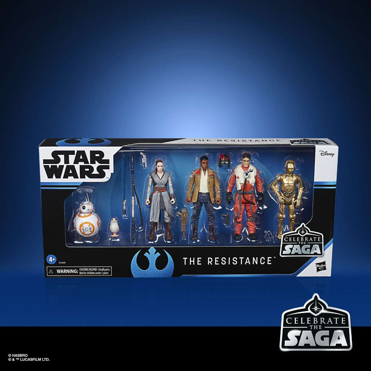 STAR WARS CELEBRATE THE SAGA 375-INCH THE RESISTANCE Figure 6-Pack - in pck