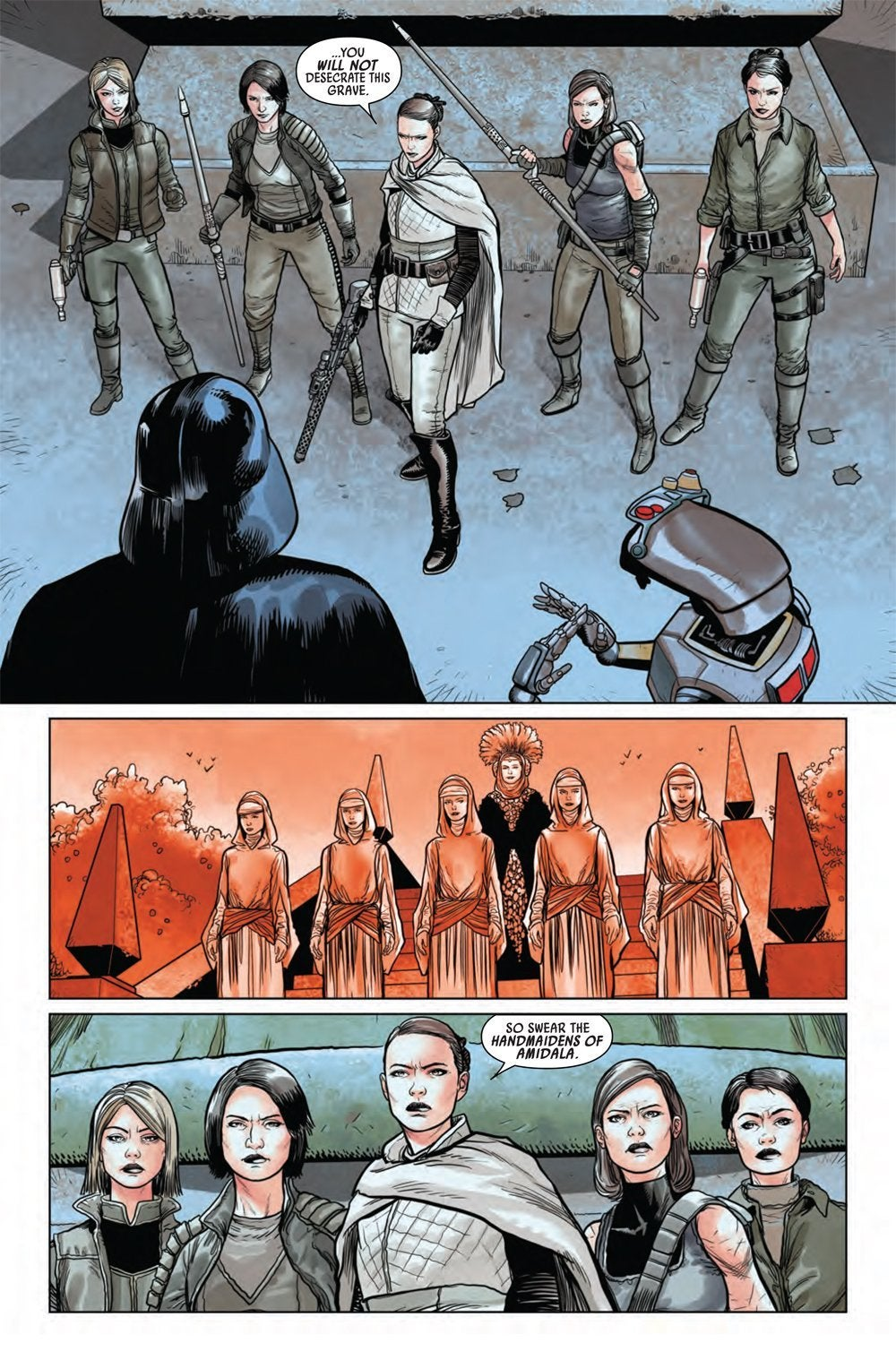 star wars darth vader comic handmaidens