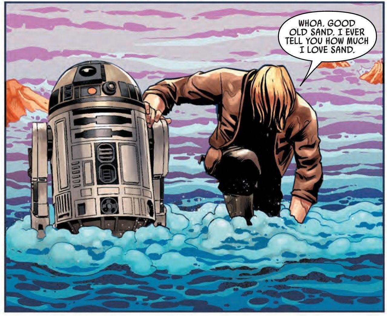star wars luke skywalkercomic book sand