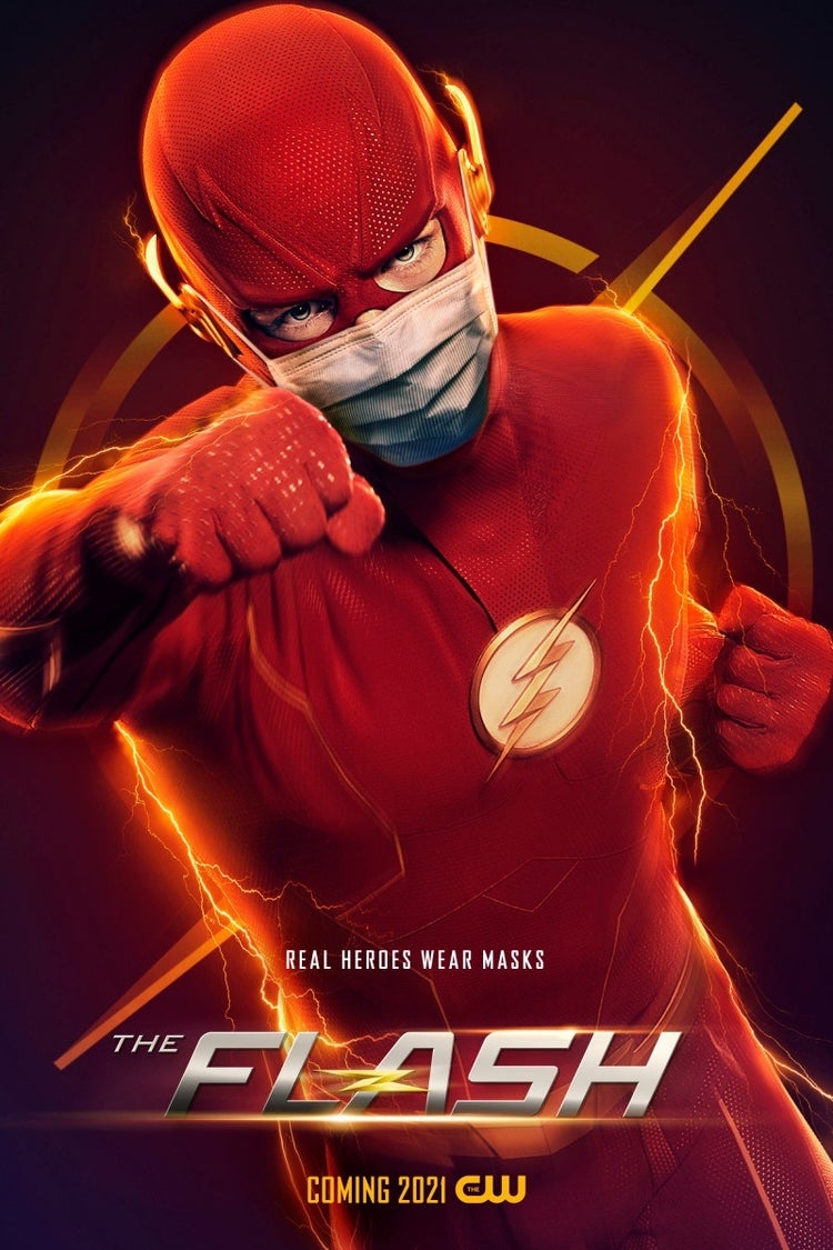 the flash face mask poster