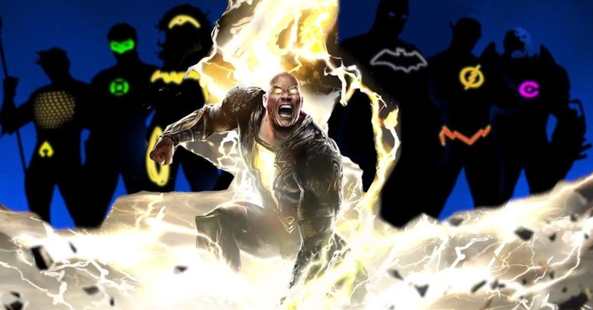 THe Rock Black Adam Message Other DCU Superheroes Power Levels