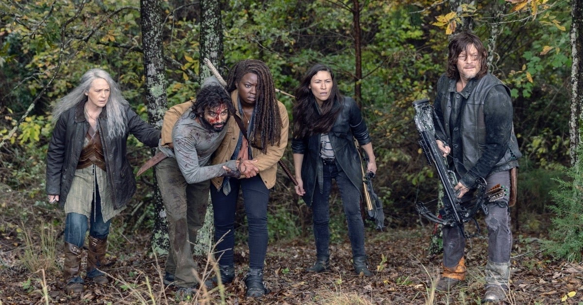 The Walking Dead Season 9 pikes