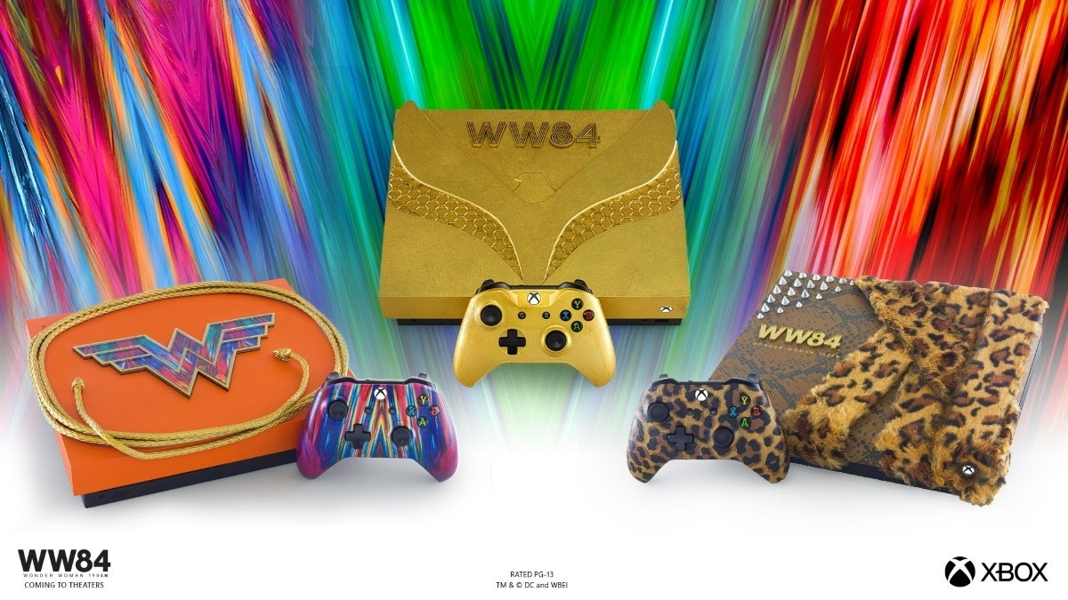 Xbox Wonder Woman 1984 Custom Consoles - All Three