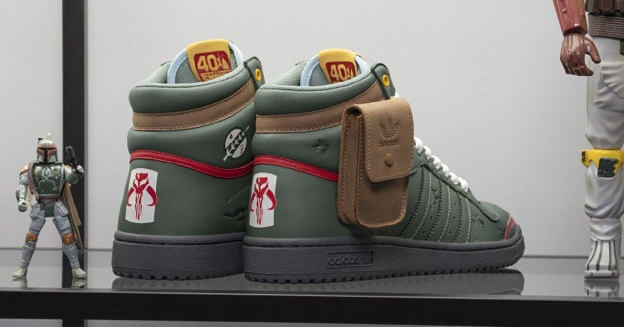Adidas Star Wars Boba Fett Top Ten Hi Sneakers Drop Today