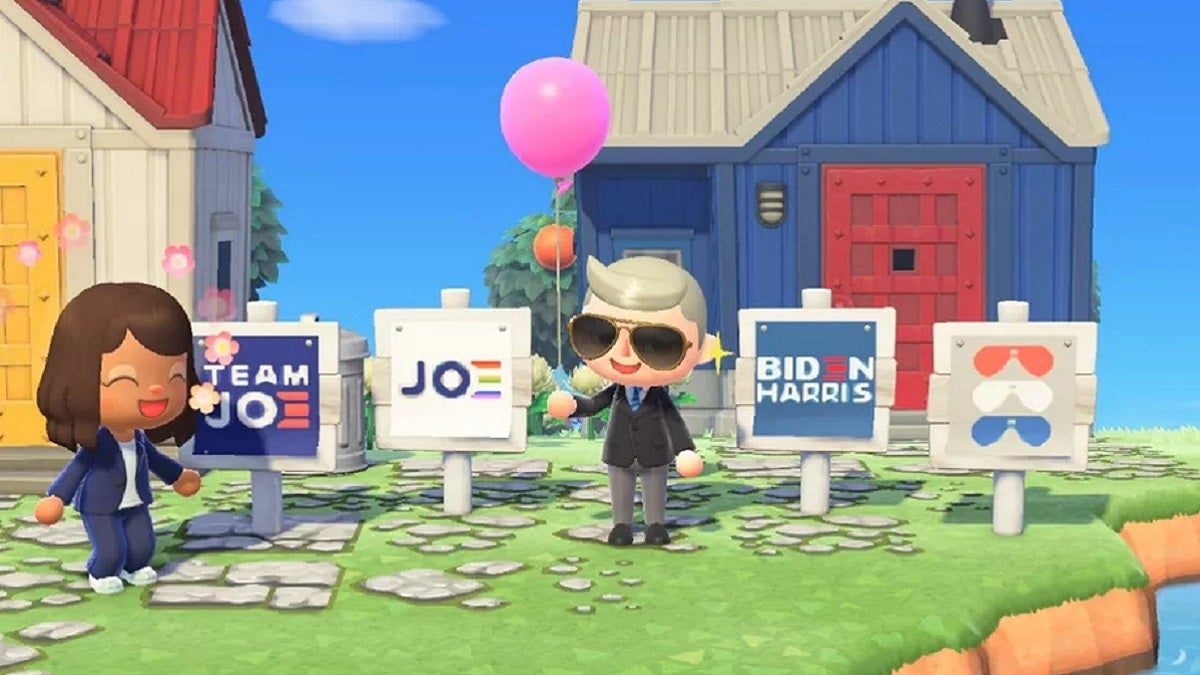 Animal Crossing New Horizons Biden Harris Signs