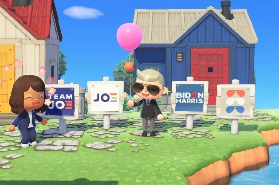 Animal Crossing New Horizons Biden Harris Signs2