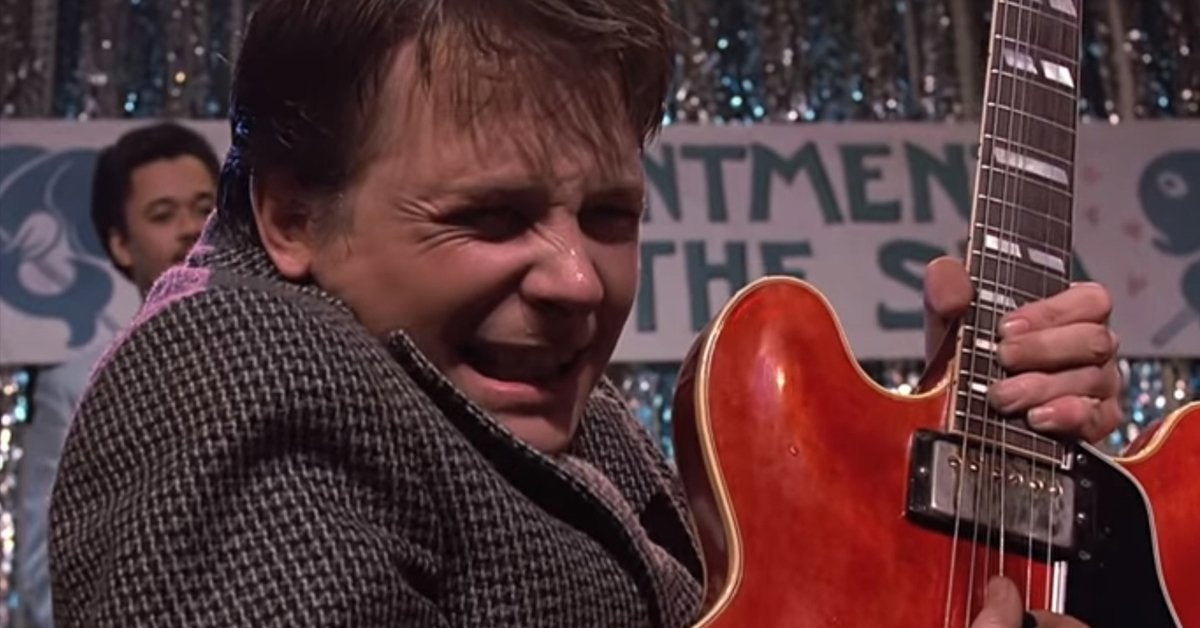 back to the future marty mcfly guitar michael j fox