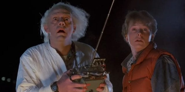 back to the future movie doc brown marty mcfly