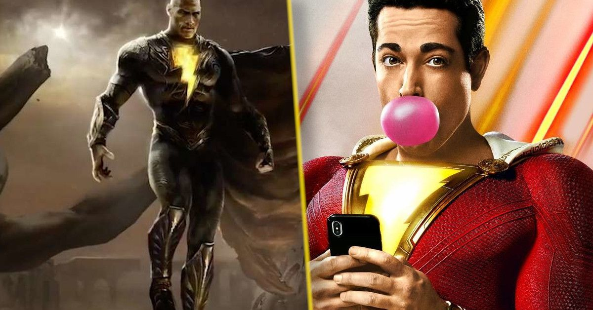 black adam and shazam match up