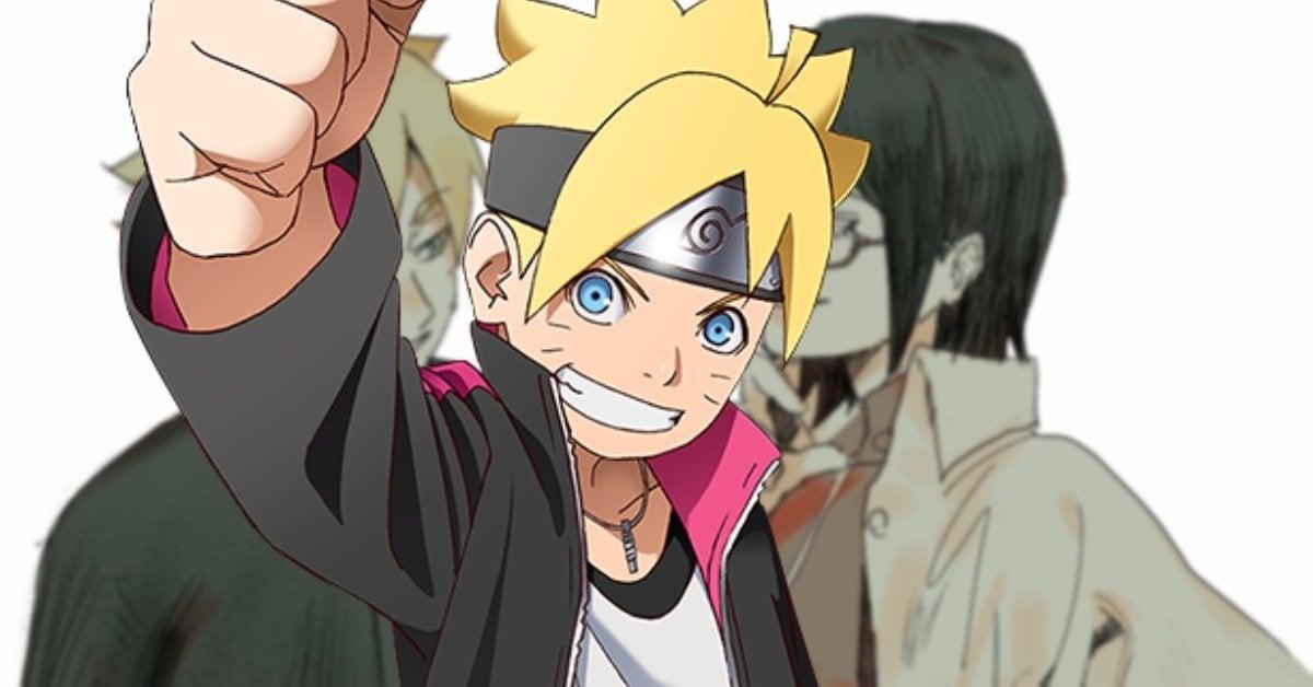 Boruto Naruto Sarada Hokage Sasuke Future Anime Art