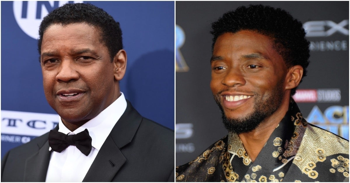 Chadwick Boseman Denzel Washington - Albert L Ortega for Getty Images Jordan Strauss for Invision and AP