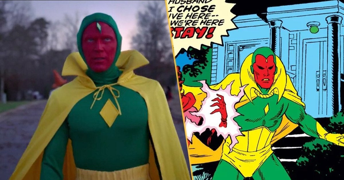 classic vision costume wandavision reaction