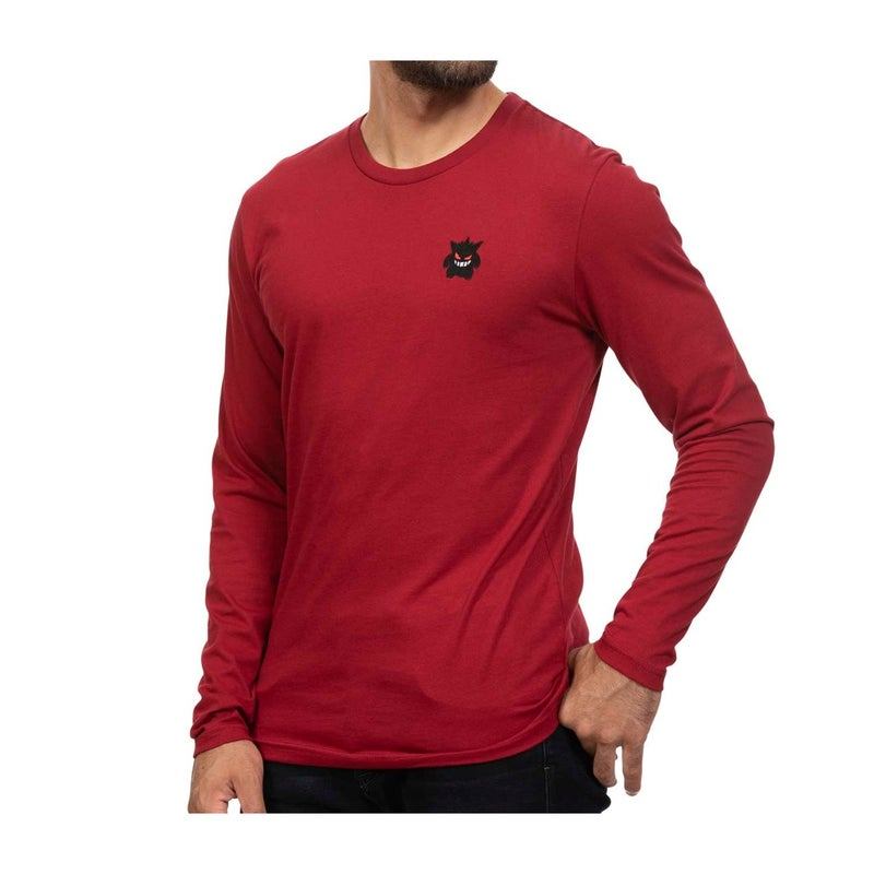 Eyes_of_Gengar_Long-Sleeve_T-Shirt_(Red)_Product_Image