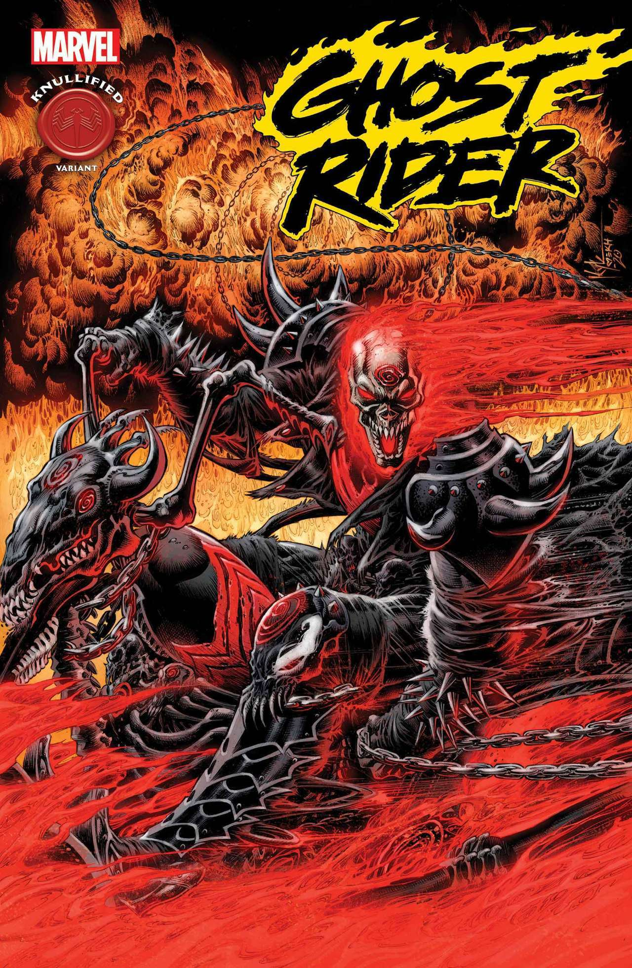 king in black ghost rider knull cover