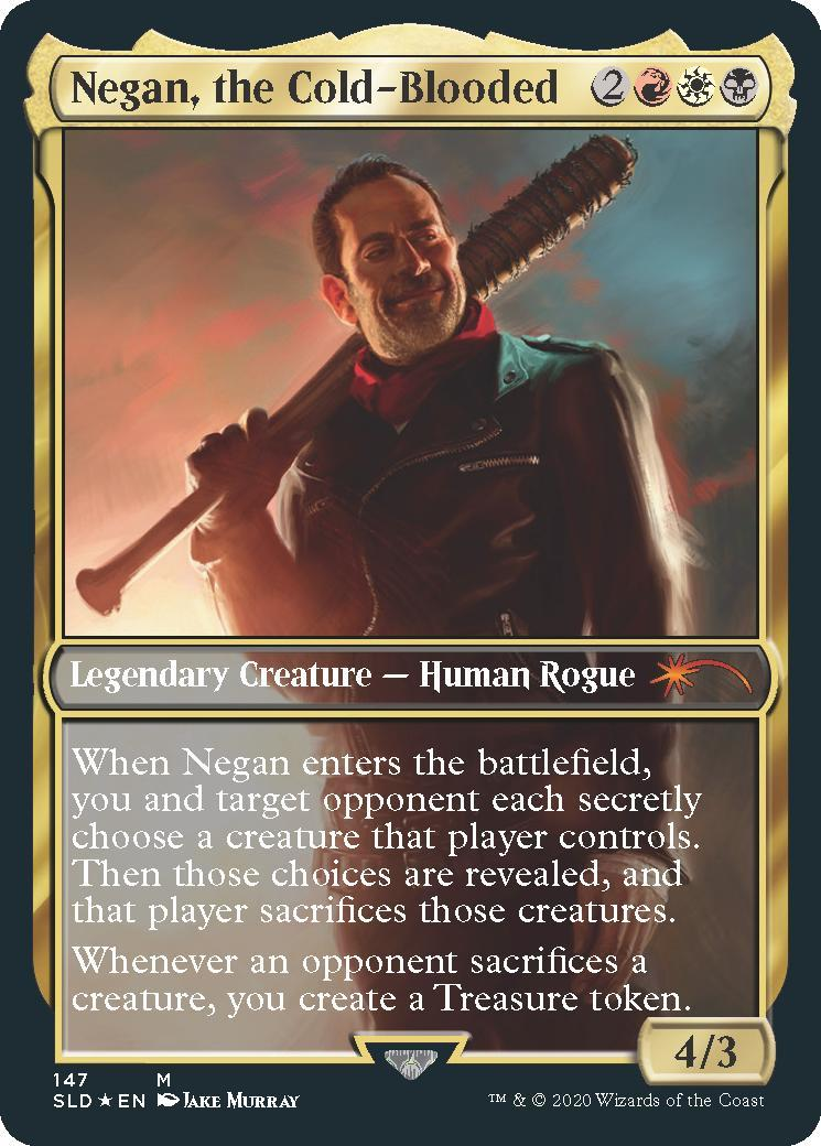 Magic the Gathering Negan the Cold Blooded Walking Dead