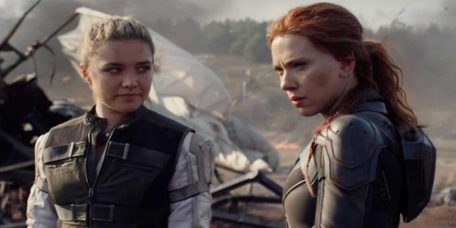 Marvel Black Widow movie Florence Pugh Scarlett Johansson