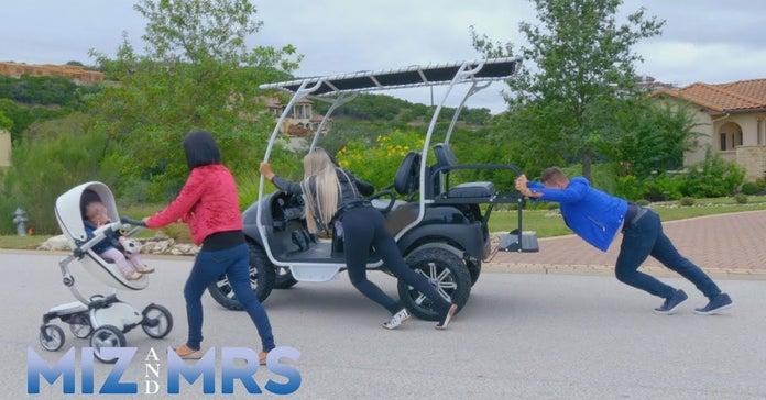 Miz-and-Mrs-Marjo-Golf-Cart