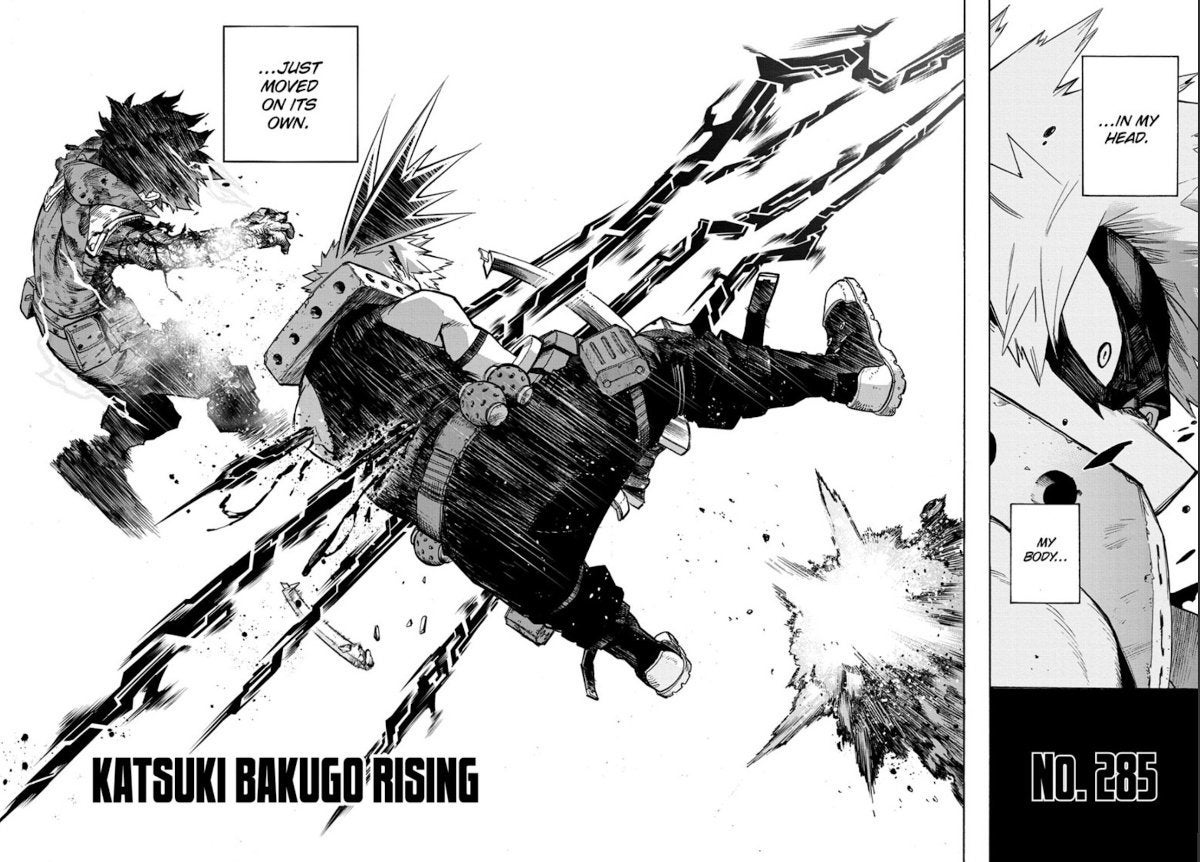 My Hero Academia Bakugo dead alive Shigaraki manga 285 spoliers