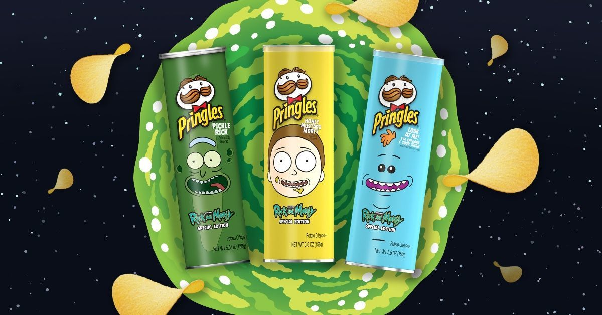 Pringles New Rick and Morty Flavors Adult Swim