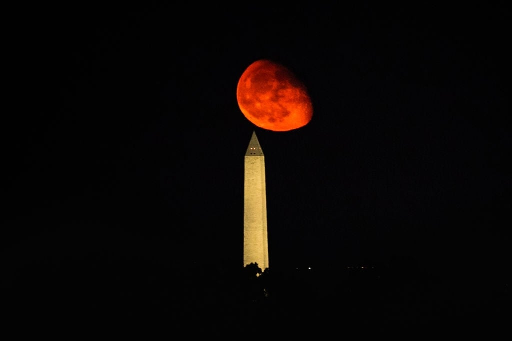rusty moon washington monument