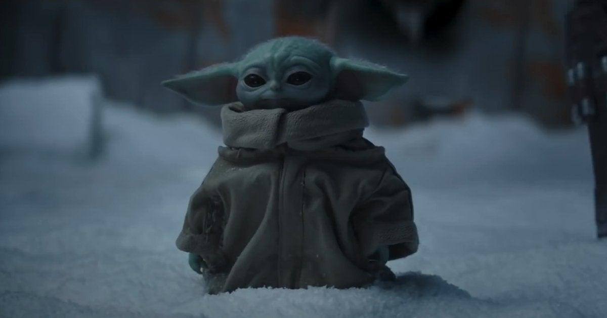 star wars the mandalorian season 2 baby yoda snow